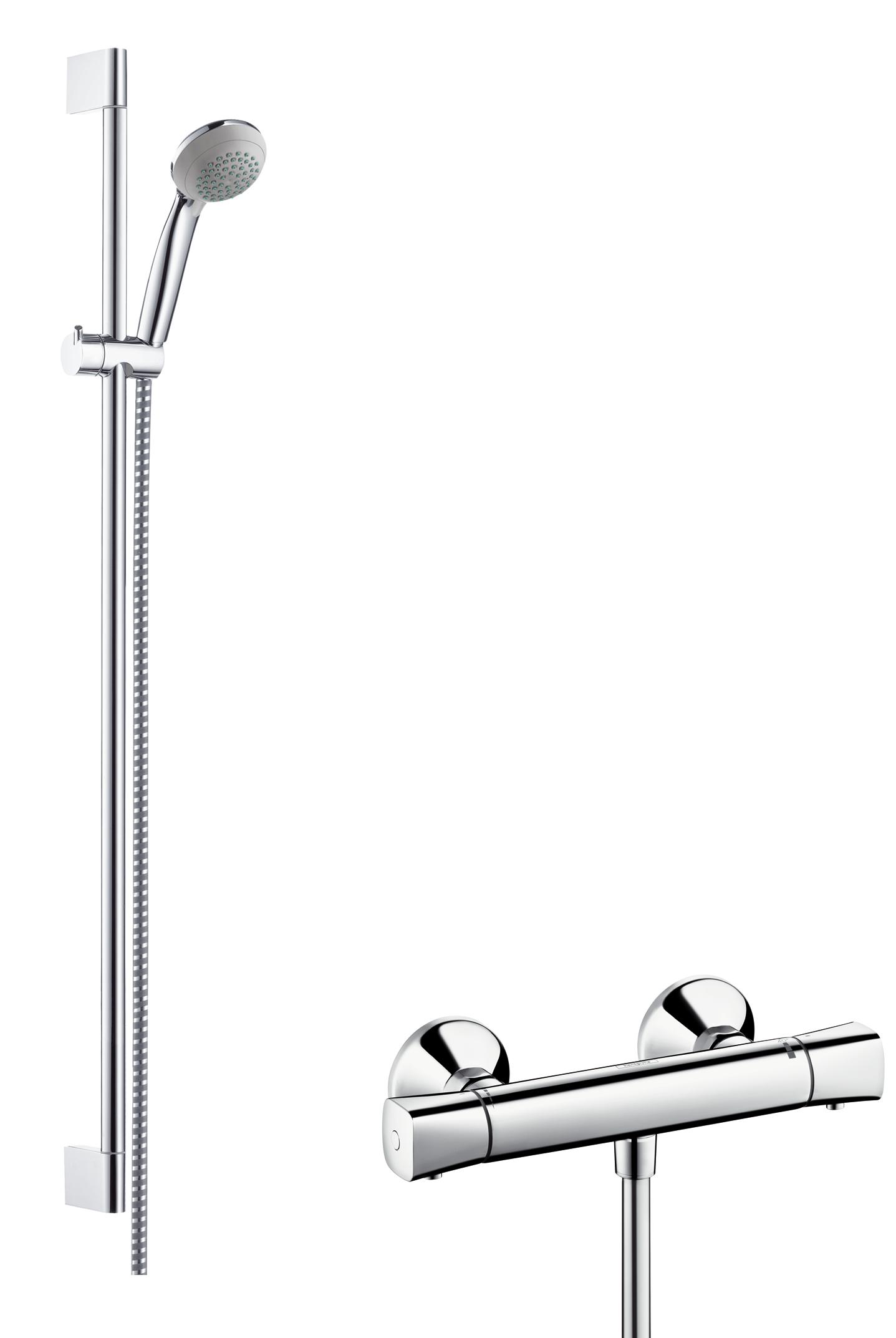 Hansgrohe Ecostat Universal Combi Set 27080000 Chrome With Crometta 85 Vario Shower 90 Cm