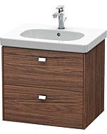 Duravit Brioso Waschtischunterbau BR414501021 620x469mm, Nussbaum Dunkel/Chrom, 2 Auszüge
