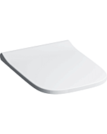 Geberit Smyle Square WC-Sitz 500238011 weiss, ohne Absenkautomatik, Scharniere chrom