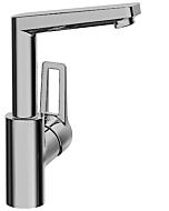 Hansa Waschtischarmatur Hansatwist 09552205 chrom, ohne Ablaufgarnitur, Ausladung 130mm