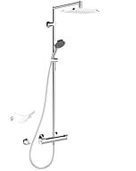 Hansa Duschsystem Hansafit 65159101 chrom, Aufputz, mit Thermostarmatur
