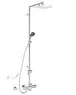 Hansa Duschsystem Hansafit 65162101 chrom, Aufputz, mit Thermostat-Wannenarmatur
