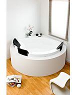 Hoesch Aviva Eck Badewanne 6619.010 120,5x120,5cm, 3 Kopfstützen, Einbauversion