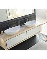 Hoesch Namur Solique Aufsatz Waschtisch 4410.010 50 x 30 cm, ohne Hahnloch und Überlauf