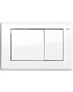 TECEplanus Betätigungsplatte 9240324 weiß glänzend, Zweimengentechnik