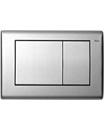 TECEplanus actuator plate 9240320 brushed stainless steel, dual-gas technology