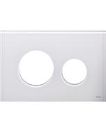 TECEloop Blende für WC-Betätigungsplatte 9240671 Glas weiß