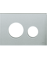 TECEloop Blende für WC-Betätigungsplatte 9240676 Glas silbergrau