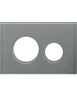TECEloop Blende für WC-Betätigungsplatte 9240677 Glas blaugrau