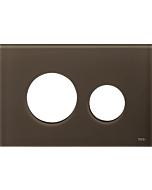 TECEloop Blende für WC-Betätigungsplatte 9240678 Glas kaffeebraun