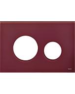 TECEloop Blende für WC-Betätigungsplatte 9240679 Glas rubinrot