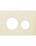 TECEloop Blende für WC-Betätigungsplatte 9240680 Glas elfenbein