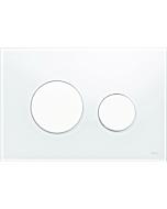 TECELoop Betätigungsplatte 9240650 Glas weiß, Tasten weiß