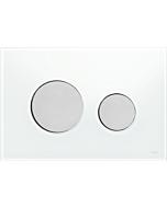 TECEloop Betätigungsplatte 9240659 Glas weiß,Tasten Chrom matt