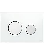 TECEloop Betätigungsplatte 9240660 Glas weiß,Tasten chrom glänzend