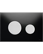 TECELoop Betätigungsplatte 9240655 Glas schwarz, Tasten chrom matt