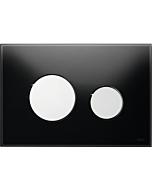 TECEloop Betätigungsplatte 9240656 Glas schwarz, Tasten chrom glänzend