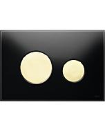 TECELoop Betätigungsplatte 9240658 Glas schwarz, Tasten gold