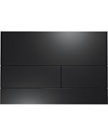TECEsquare II Metall Betätigungsplatte 9240833 schwarz matt, für 2-Mengentechnik