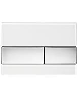 TECEsquare Betätigungsplatte 9240802 Glas weiß, Tasten chrom glänzend