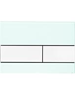 TECEsquare Betätigungsplatte 9240803 Glas mintgrün, Tasten weiß