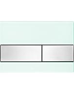 TECEsquare Betätigungsplatte 9240804 Glas mintgrün, Tasten Edelstahl gebürstet