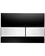 TECEsquare Betätigungsplatte 9240806 Glas schwarz, Tasten Edelstahl gebürstet