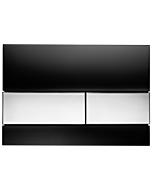 TECEsquare Betätigungsplatte 9240807 Glas schwarz, Tasten chrom glänzend