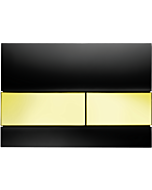 TECEsquare Betätigungsplatte 9240808 Glas schwarz, Tasten gold