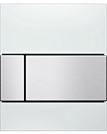 TECEsquare Urinal-Betätigungsplatte 9242801 Glas weiß,Tastatur Edelstahl gebürstet