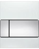 TECEsquare Urinal Betätigungsplatte 9242802 Glas weiss, Tasten chrom glänzend, mit Kartusche