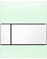 TECEsquare Urinal Betätigungsplatte 9242803 Glas mintgrün, Tasten weiss