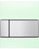 TECEsquare Urinal Betätigungsplatte 9242804 Glas mintgrün, Tasten Edelstahl gebürstet