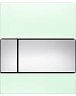 TECEsquare Urinal Betätigungsplatte 9242805 Glas mintgrün, Tasten chrom glänzend