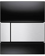 TECEsquare Urinal Betätigungsplatte 9242806 Glas schwarz, Tasten Edelstahl gebürstet