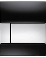 TECEsquare Urinal Betätigungsplatte 9242807 Glas schwarz, Tasten chrom glänzend
