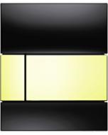 TECEsquare Urinal Betätigungsplatte 9242808 Glas schwarz, Tasten gold, mit Kartusche