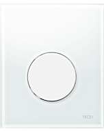 TECEloop Urinal Betätigungsplatte 9242650 Glas weiß, Taste weiß