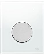 TECEloop Urinal Betätigungsplatte 9242659 Glas weiß, Taste chrom matt