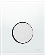 TECEloop Urinal Betätigungsplatte 9242660 Glas weiß, Taste chrom glänzend
