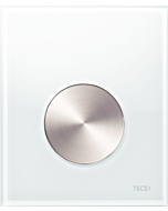 TECEloop Urinal Betätigungsplatte 9242661 Glas weiss, Taste Edelstahl, mit Kartusche