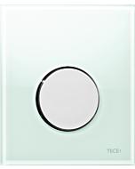 TECEloop Urinal Betätigungsplatte 9242653 Glas mintgrün, Taste chrom glänzend