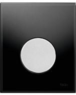 TECEloop Urinal Betätigungsplatte 9242655 Glas schwarz, Taste chrom matt