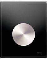TECEloop Urinal Betätigungsplatte 9242663 Glas schwarz, Taste Edelstahl rundgebürstet