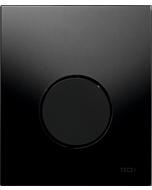TECEloop Urinal Betätigungsplatte 9242657 Glas schwarz, Taste schwarz