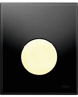 TECEloop Urinal Betätigungsplatte 9242658 Glas schwarz, Taste gold