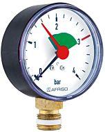 Afriso Manometer 0-4 bar, senkrecht 63910 Gehäuse 63mm Durchmesser, 3/8