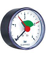 Afriso Manometer 0-4 bar, waagerecht 63915 Gehäuse 63mm Durchmesser, 1/4