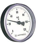 Afriso Bimetall Thermometer 0-120 Grad 63704  Gehäuse 63mm, Schaft 40mm, 1/2