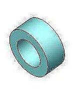 Haro Distanzring 404089 DR 01, für Kunststoffscharniere, Polyamid